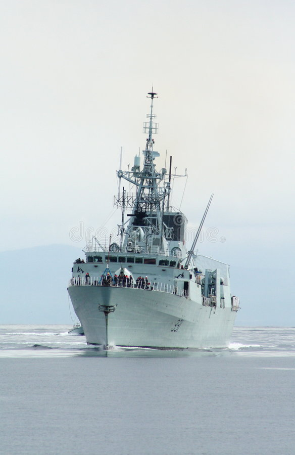 大型驱逐舰 库存照片
