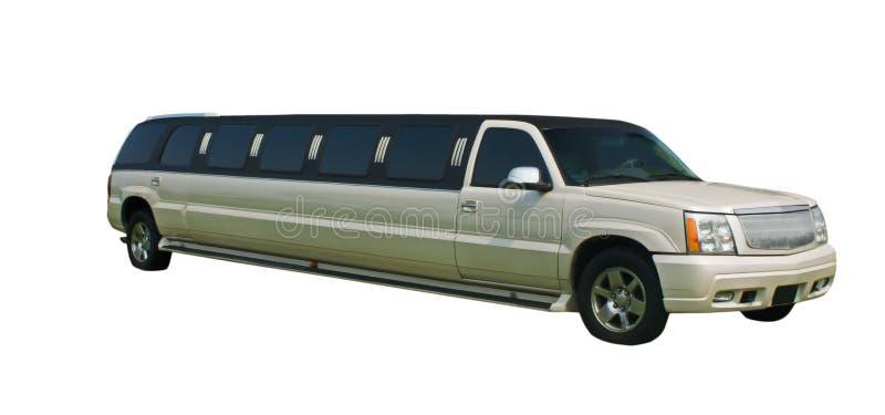 大型高级轿车珍珠白色 免版税库存图片