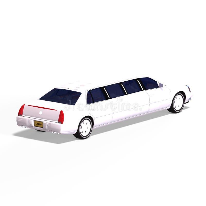 大型高级轿车白色 皇族释放例证