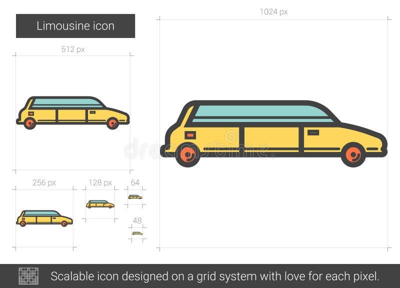 大型高级轿车线象 库存例证