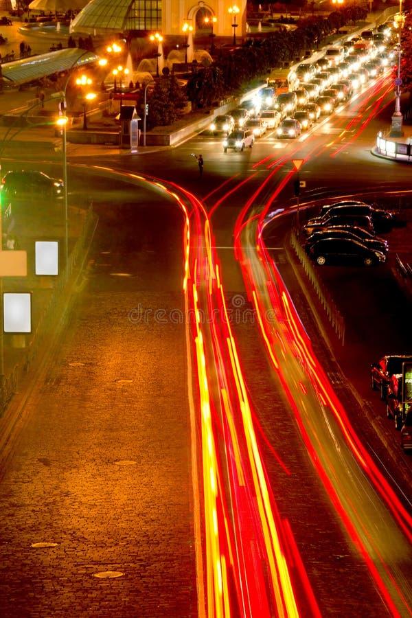 大城市交通 免版税图库摄影