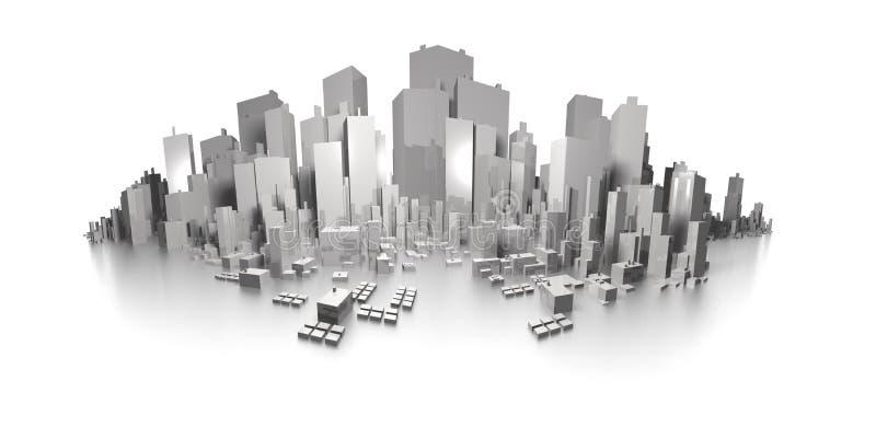 大城市全景地平线 向量例证