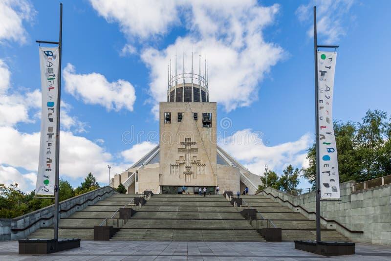 大城市大教堂在利物浦,英国 图库摄影