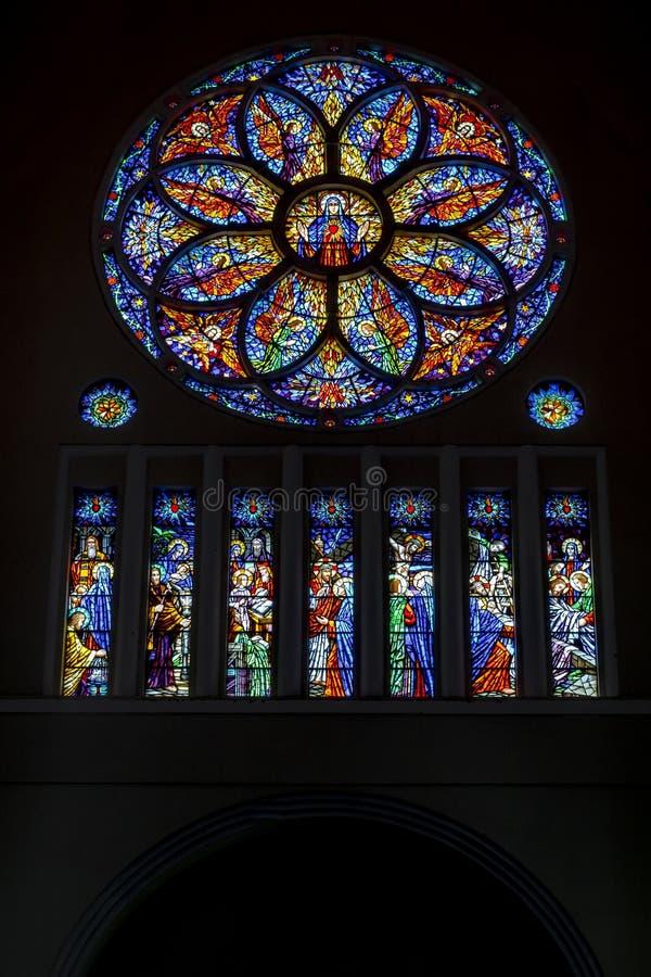 大城市大教堂福特莱萨巴西 免版税库存照片