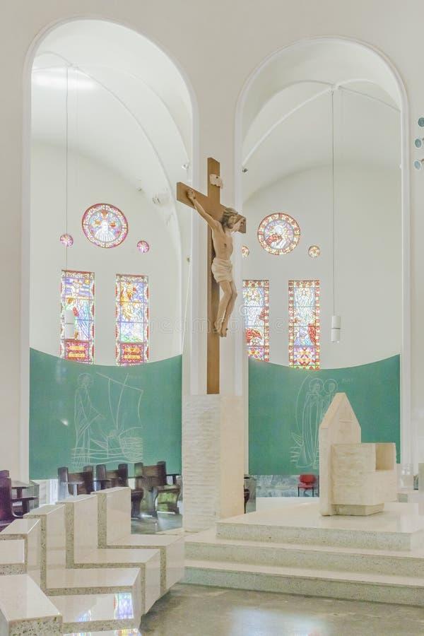 大城市大教堂福特莱萨巴西 库存图片