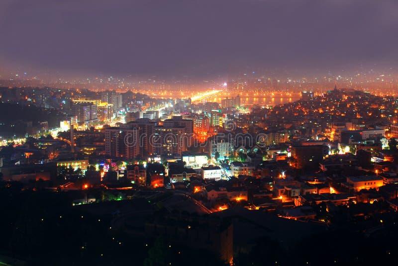 大城市晚上 库存图片