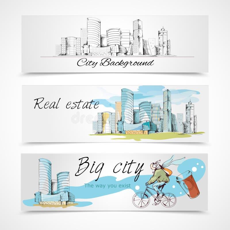 大城市横幅 向量例证
