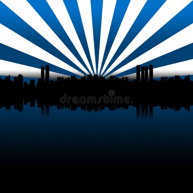 大城市蓝色 库存图片