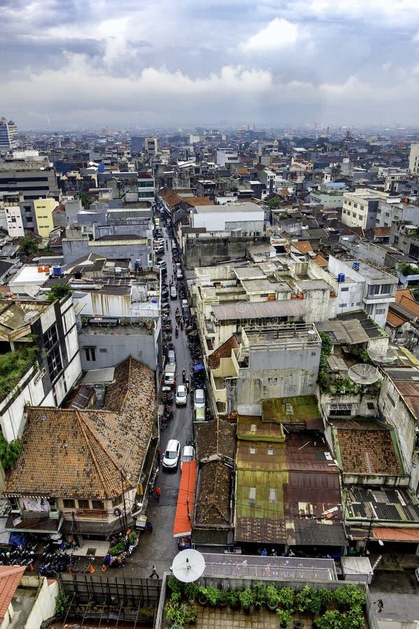 大城市鸟瞰图  图库摄影