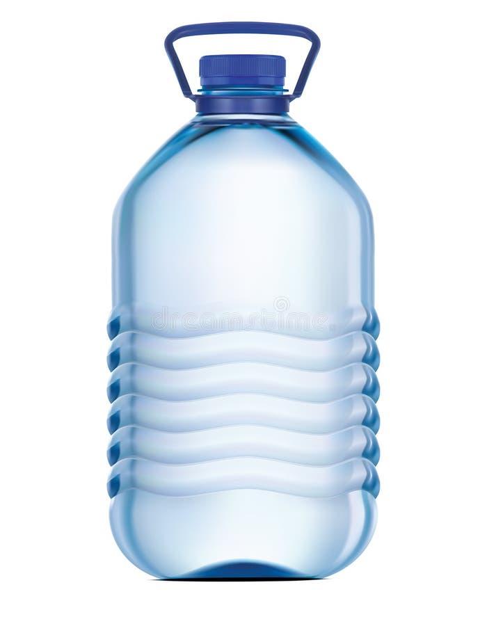 大塑料瓶饮用水 向量 向量例证