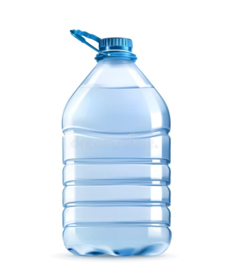 大塑料瓶饮用水 皇族释放例证