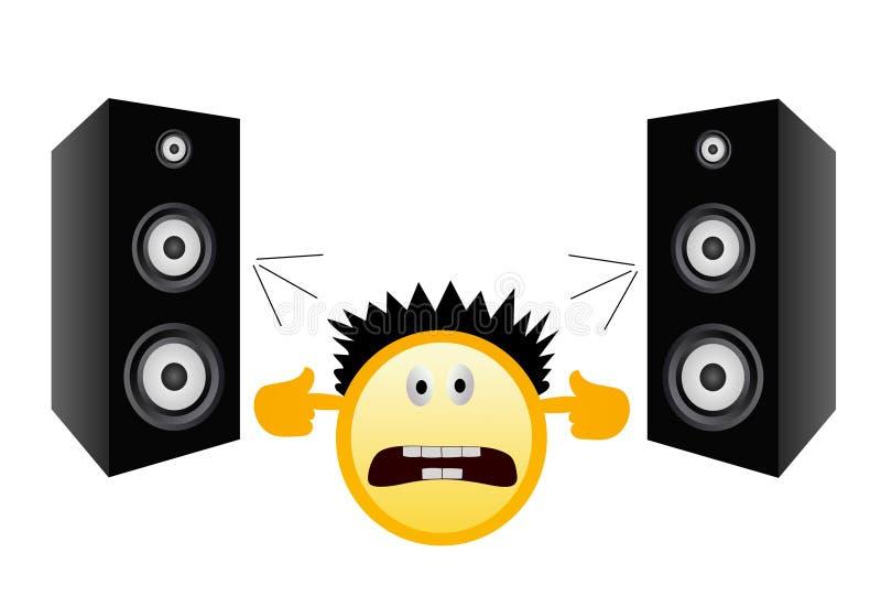 大声的音乐没有 皇族释放例证