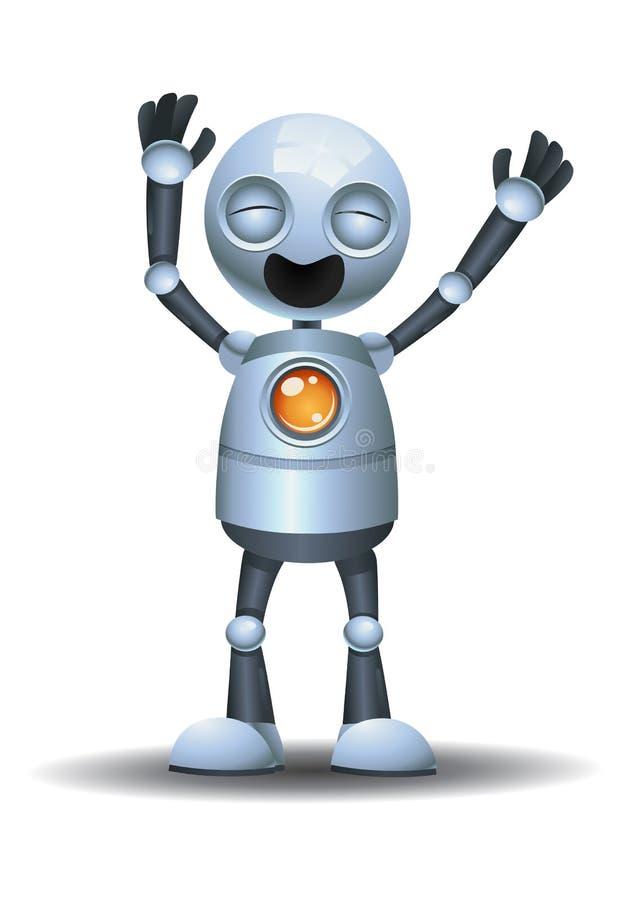 大声笑一点的机器人  皇族释放例证