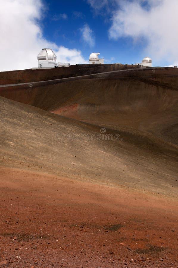 大夏威夷海岛kea mauna挤撞火山 库存照片