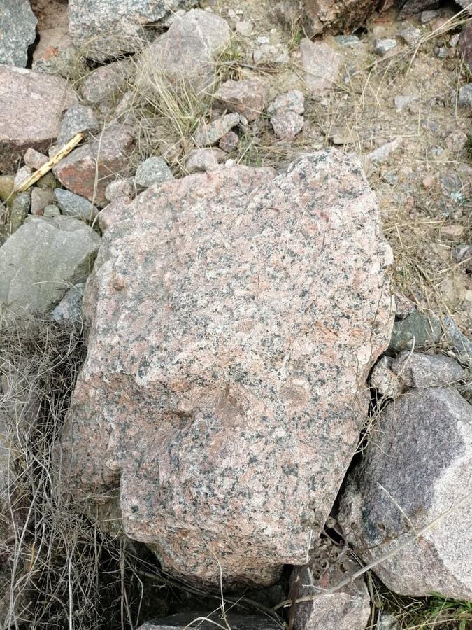 大多彩多姿的石头 免版税库存图片