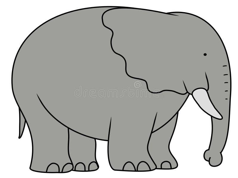 大大象 向量例证