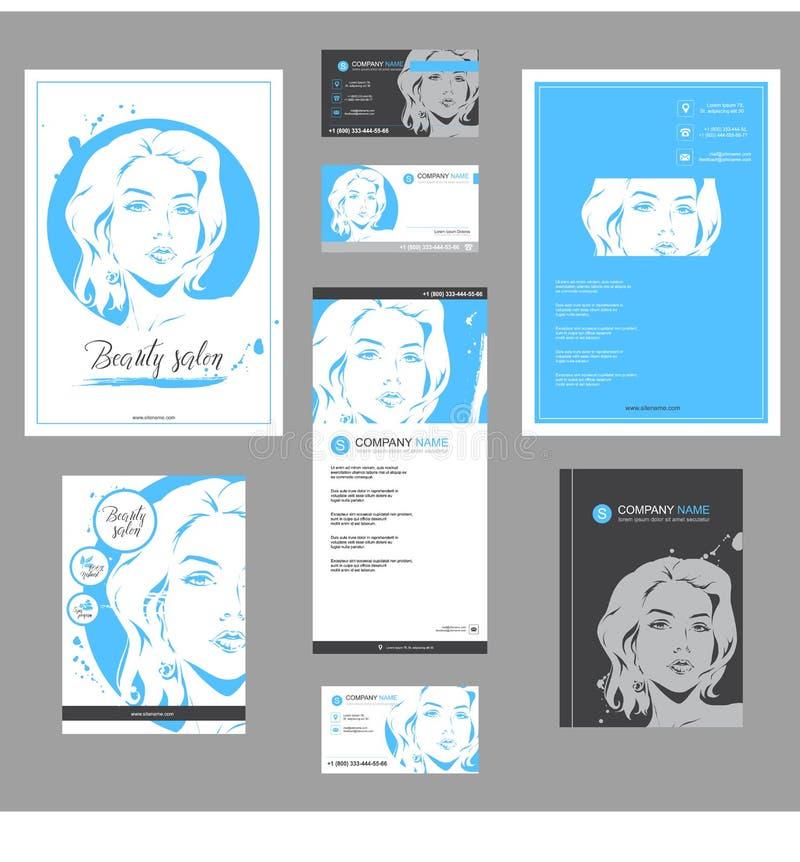 大套卡片、飞行物、海报、小册子和传单设计的时尚模板 皇族释放例证