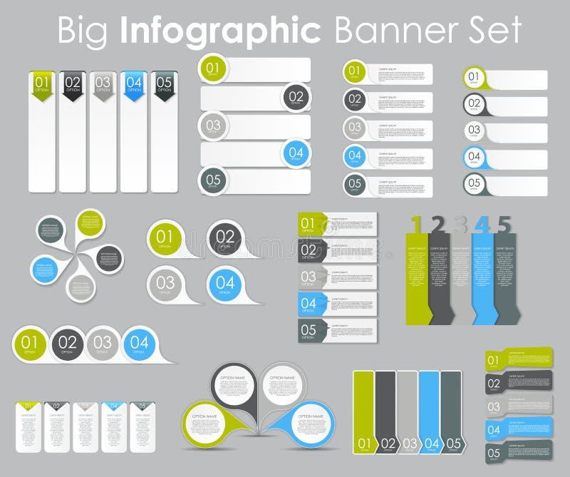 大套Infographic您的企业传染媒介的横幅模板 皇族释放例证