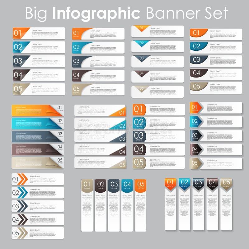 大套Infographic您的横幅模板 库存例证