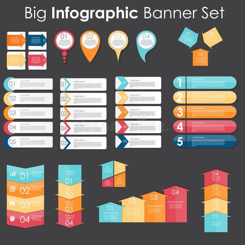 大套Infographic您的横幅模板 向量例证