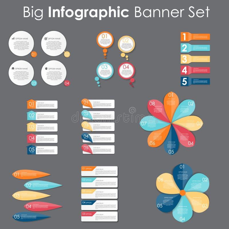 大套Infographic您的横幅模板 皇族释放例证