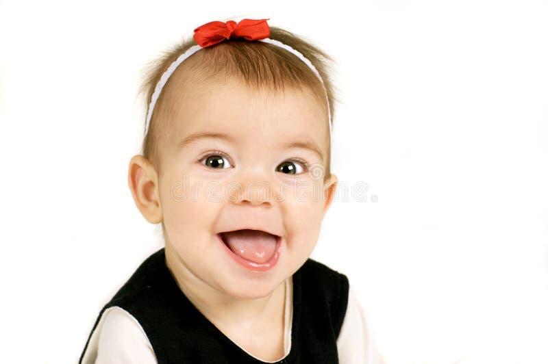 大女孩微笑 免版税库存照片
