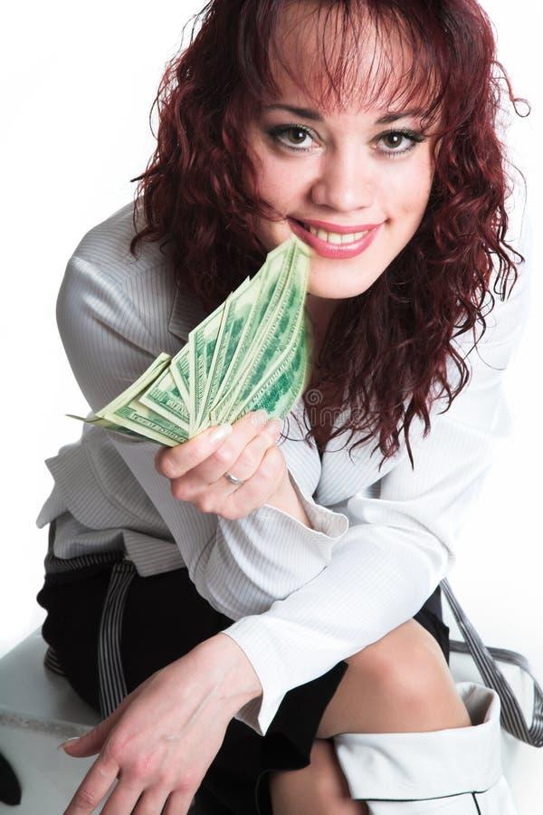 大女孩货币 库存照片