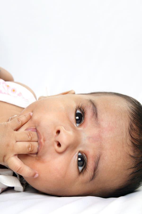 大婴孩四印第安小的月 免版税库存照片