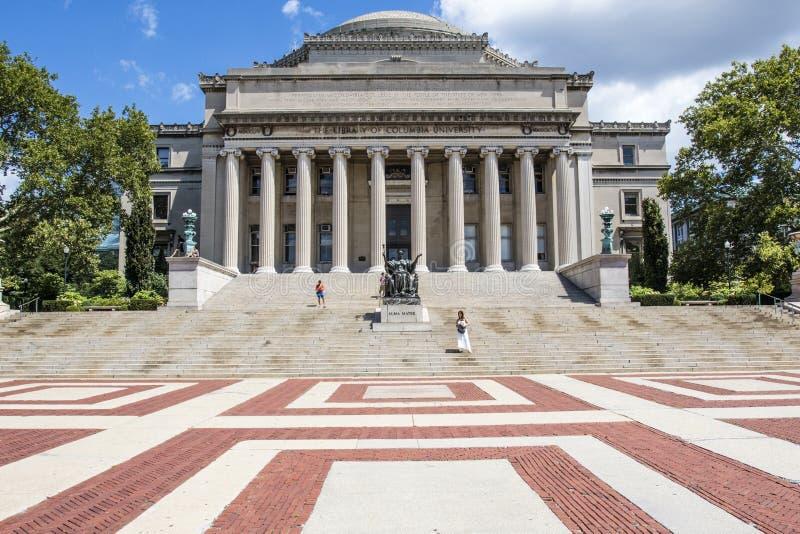 大学图书馆哥伦比亚大学,上部曼哈顿,纽约的外部 图库摄影