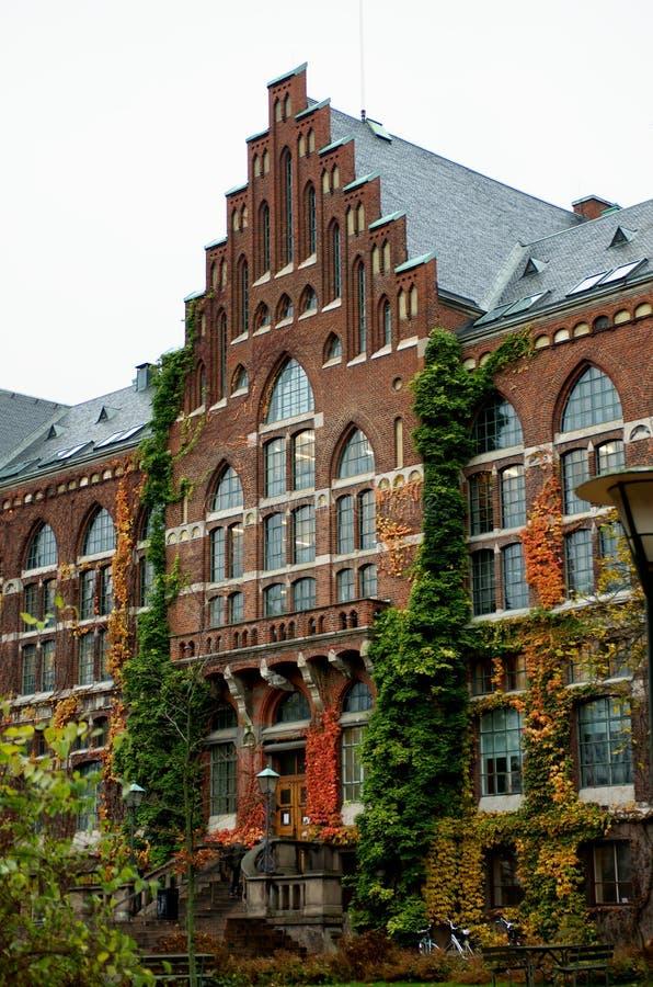 大学图书馆在隆德,瑞典 库存图片