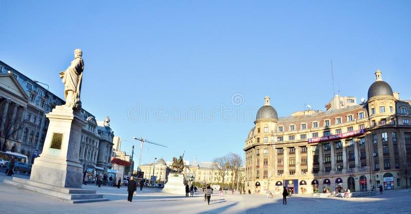 布加勒斯特-大学正方形 免版税库存图片