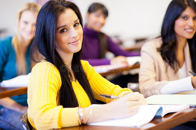 大学生在教室 免版税库存照片