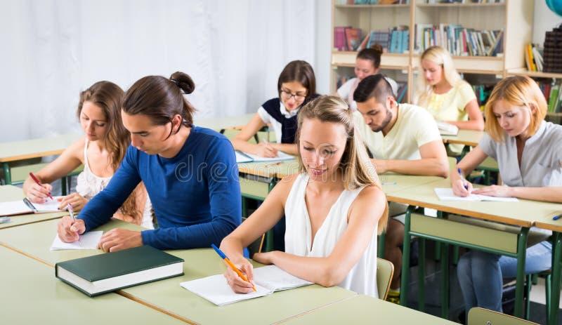 大学生在观众席 免版税图库摄影