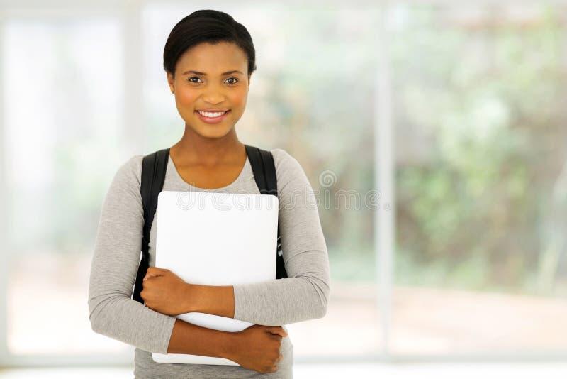 大学生膝上型计算机 免版税库存图片
