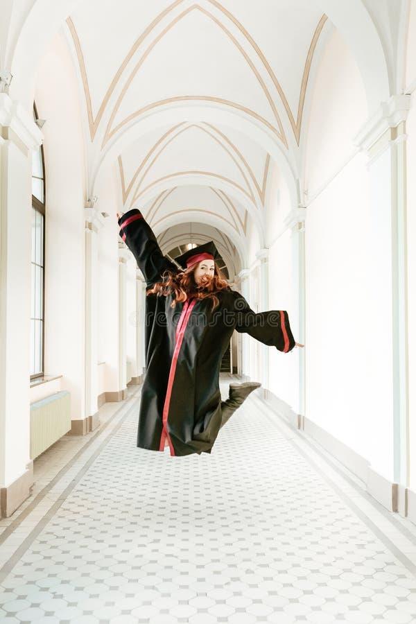 大学的研究生女孩画象  免版税库存照片
