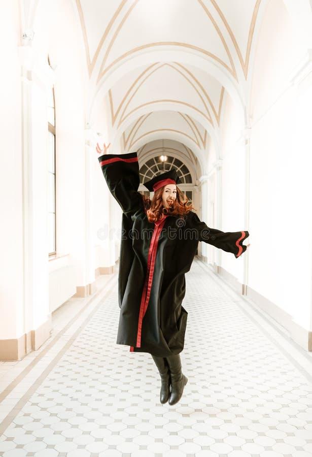 大学的研究生女孩画象  免版税库存图片