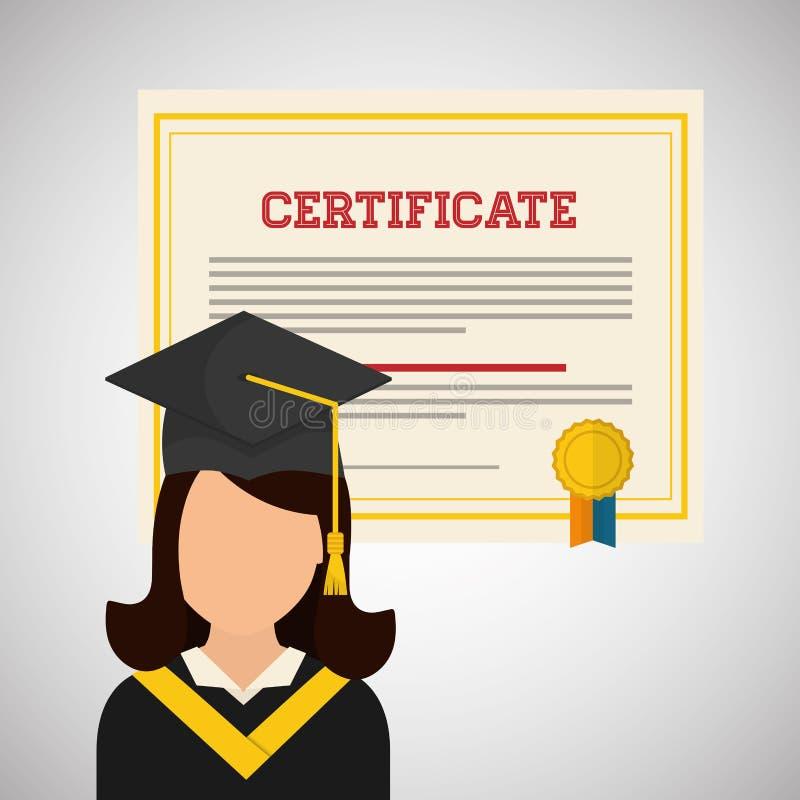 大学设计 毕业和教育例证 向量例证
