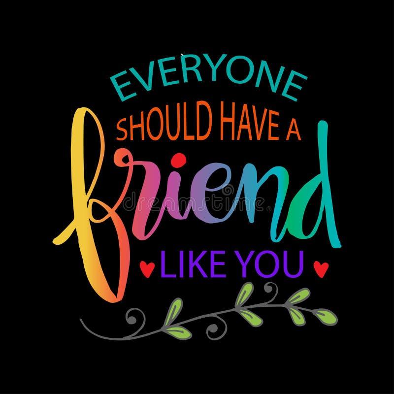 大家应该有象您的一个朋友 向量例证