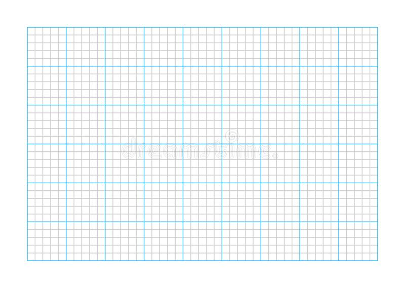 A9大小座标图纸 皇族释放例证
