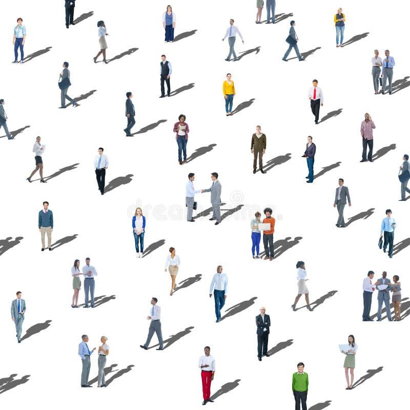 大小组人通信变化公共概念 皇族释放例证