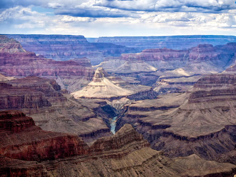 大峡谷国家公园全景 库存图片