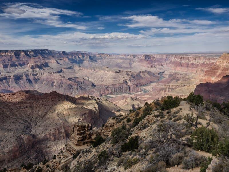 大峡谷国家公园全景 免版税库存图片
