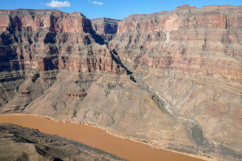大峡谷国家公园和科罗拉多河 库存图片
