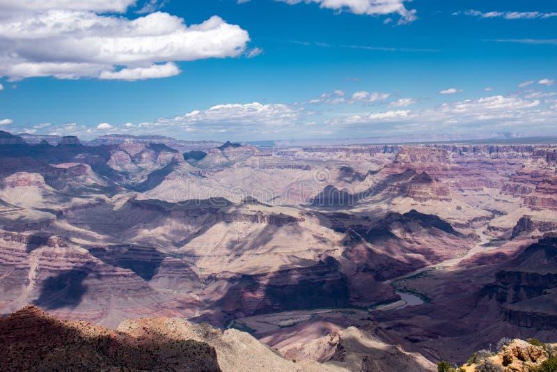 大峡谷国家公园的南外缘的观点在亚利桑那 免版税库存照片