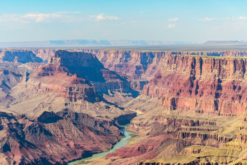 大峡谷国家公园,亚利桑那鸟瞰图  图库摄影