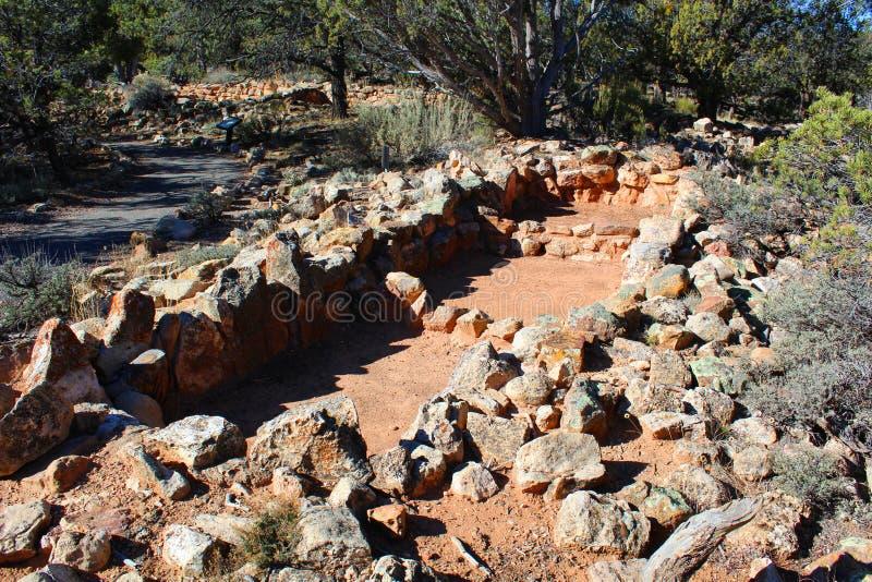 大峡谷国立公园废墟在亚利桑那 免版税库存图片