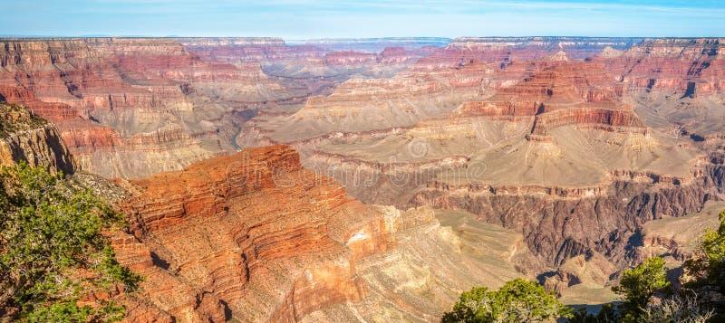 大峡谷地质结构和全景  图库摄影