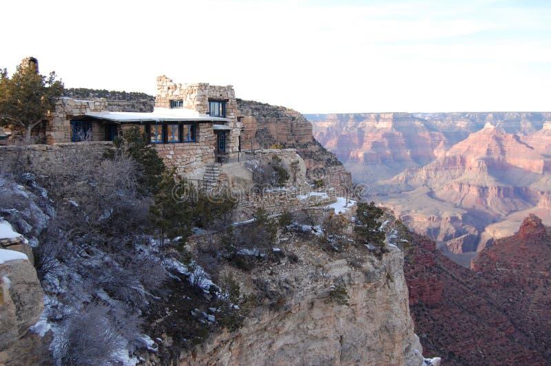 大峡谷外缘风景 免版税库存图片
