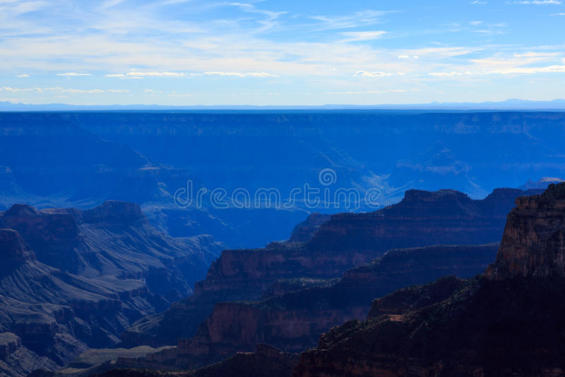 大峡谷宜人的风景从北部外缘,亚利桑那,单位的 库存照片