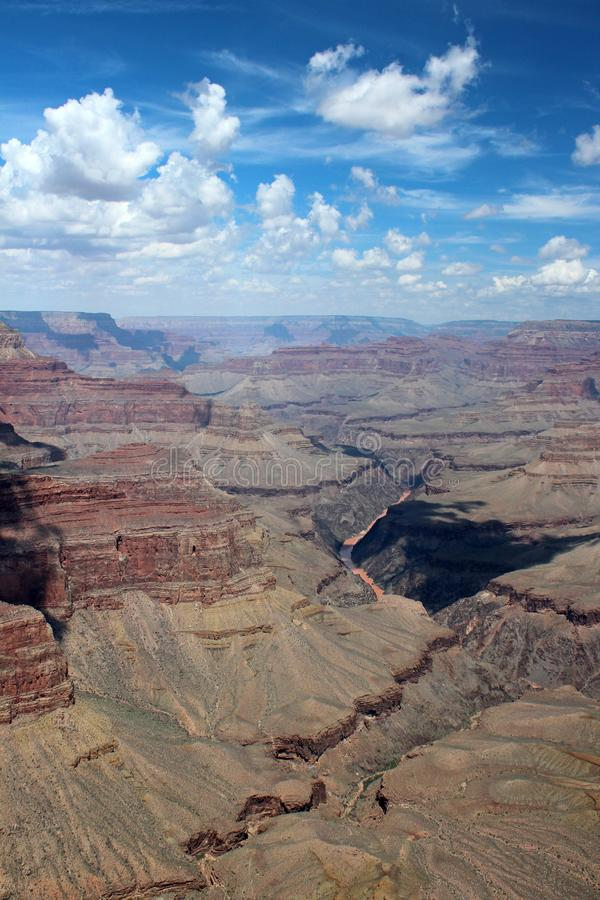 大峡谷景色,亚利桑那 免版税库存照片